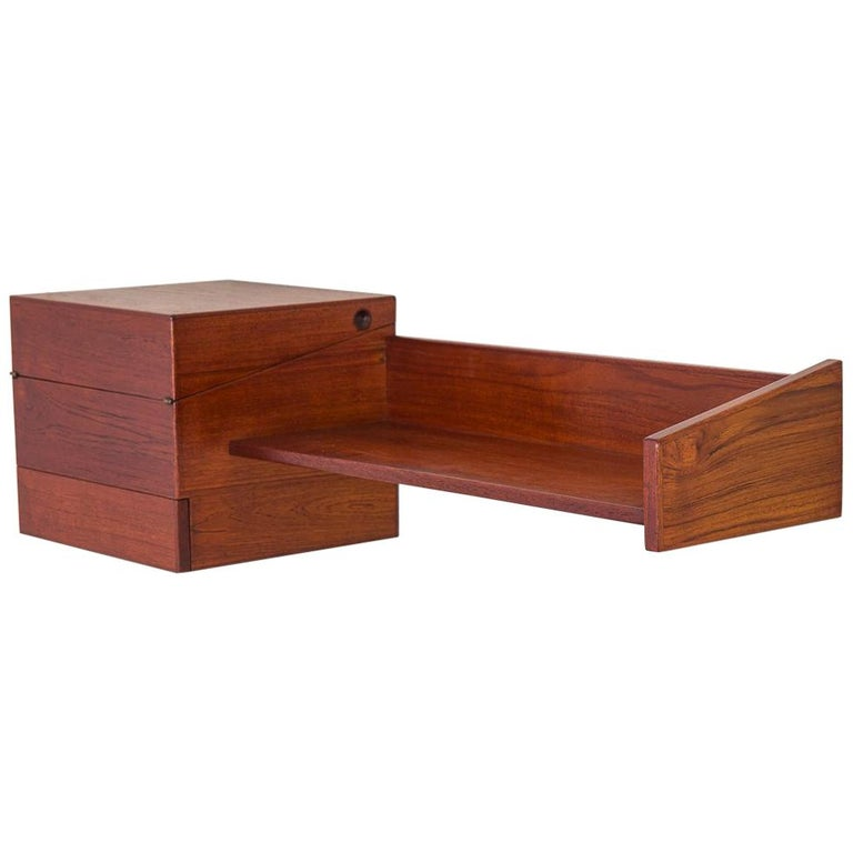 Danish Modern Floating Teak Shelf