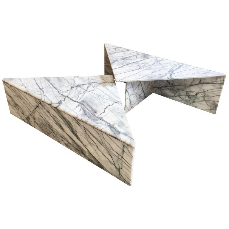 Modernist Multi-Level Italian Marble Coffee Table