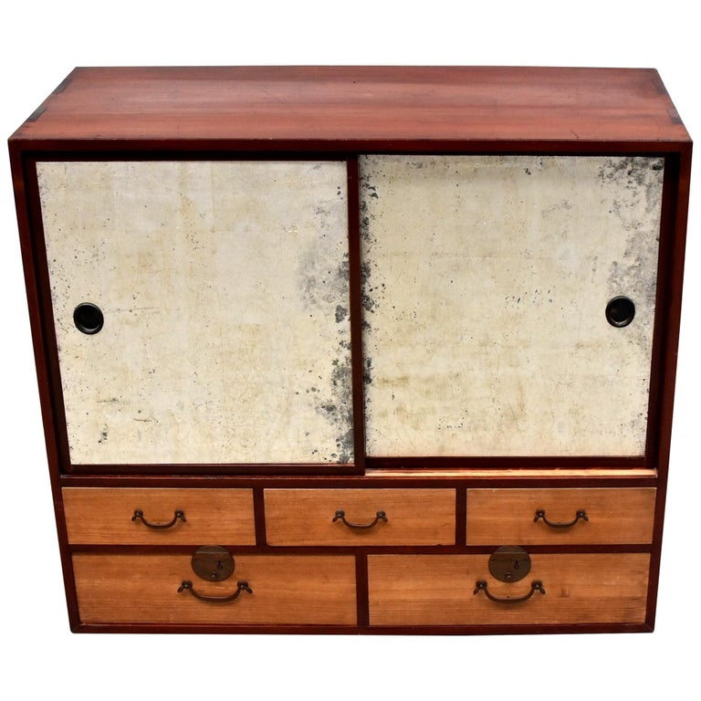 Vintage Japanese Chest with Rice Paper Doors
