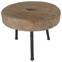 19th Century Wooden Wheel Table