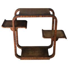 Squared Art Deco Walnut Wood Side Table Console by Osvaldo Borsani, 1930s