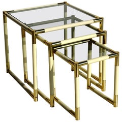 1970s by Tommaso Barbi Italian Design Nesting Tables