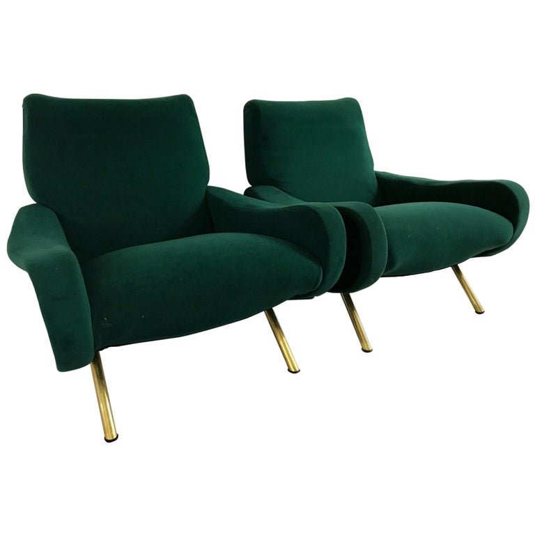 "Pair of ""Lady"" armchairs by Marco Zanuso for Arflex, Italy, 1950s"