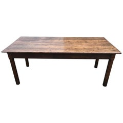 19th Century French Oak Farmhouse Table