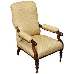 19th Century Early Victorian Mahogany Armchair