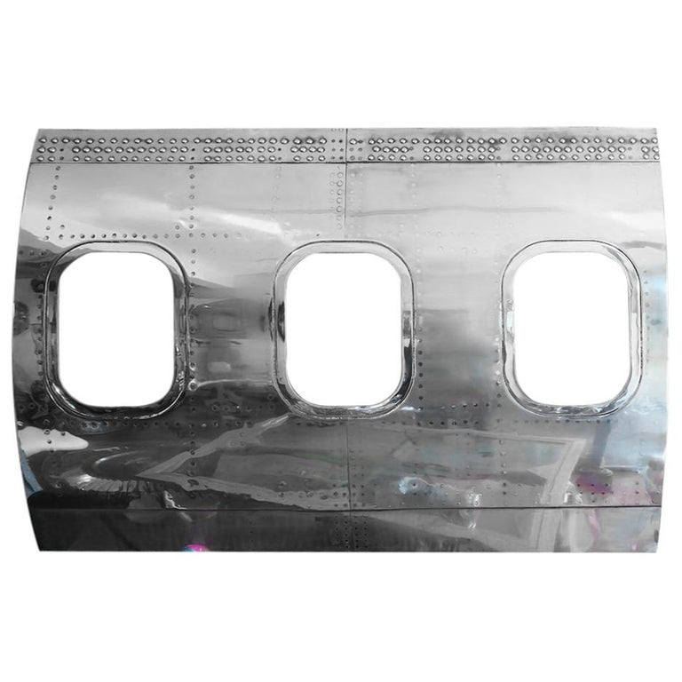 Boeing 727 Authentic Aircraft 3 Windows Panel in Polished Mirror Finish