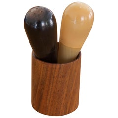 """Set of Salt and Pepper Shakers """"the Bombs"""" by Carl Auböck"""