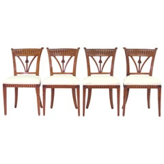 Set of Four Italian Side Chairs, circa 1800