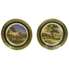 Pair of Old Pairs Porcelain Cabinet Plates, circa 1820