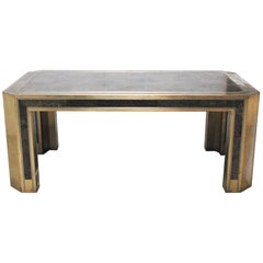 Romeo Rega Gorgeous Table in Brass and Turtle Skin from, 1970s