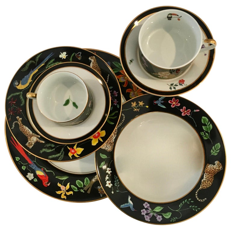 Jaguar Jungle Porcelain 12 Piece With Accessories By Lynn Chase Designs For