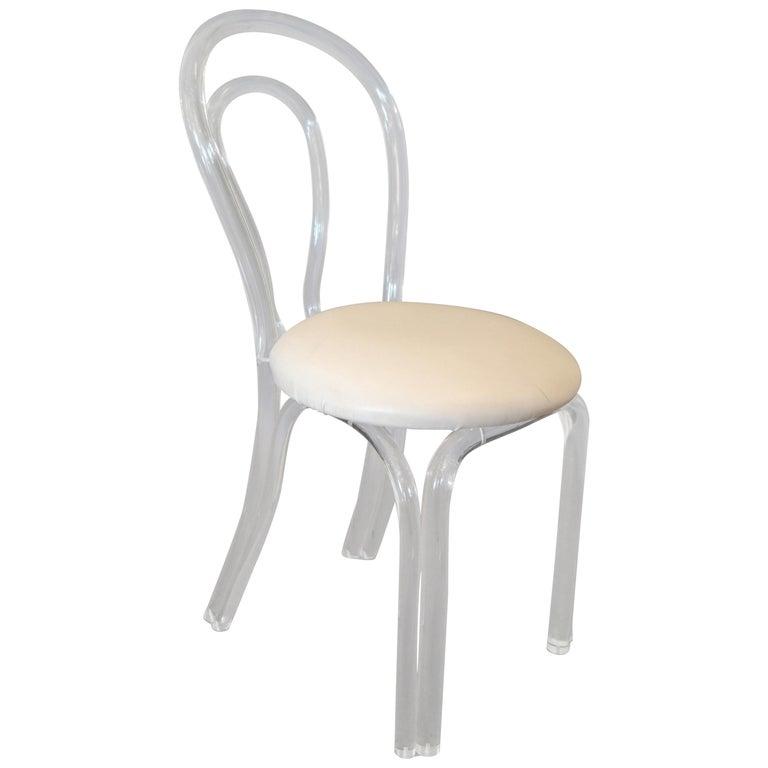Mid-Century Modern Sculptural Lucite Desk or Vanity Chair