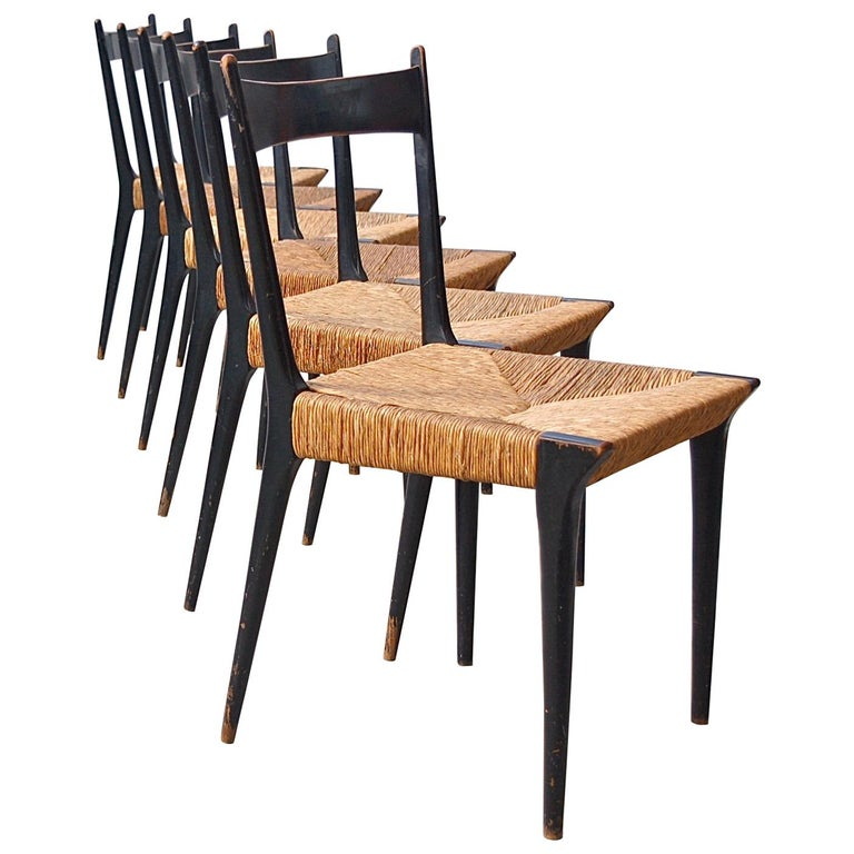Set of Six Modernist Dining Chairs by Alfred Hendrickx, Belgium, 1958