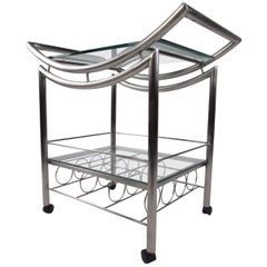Contemporary Steel Bar Cart