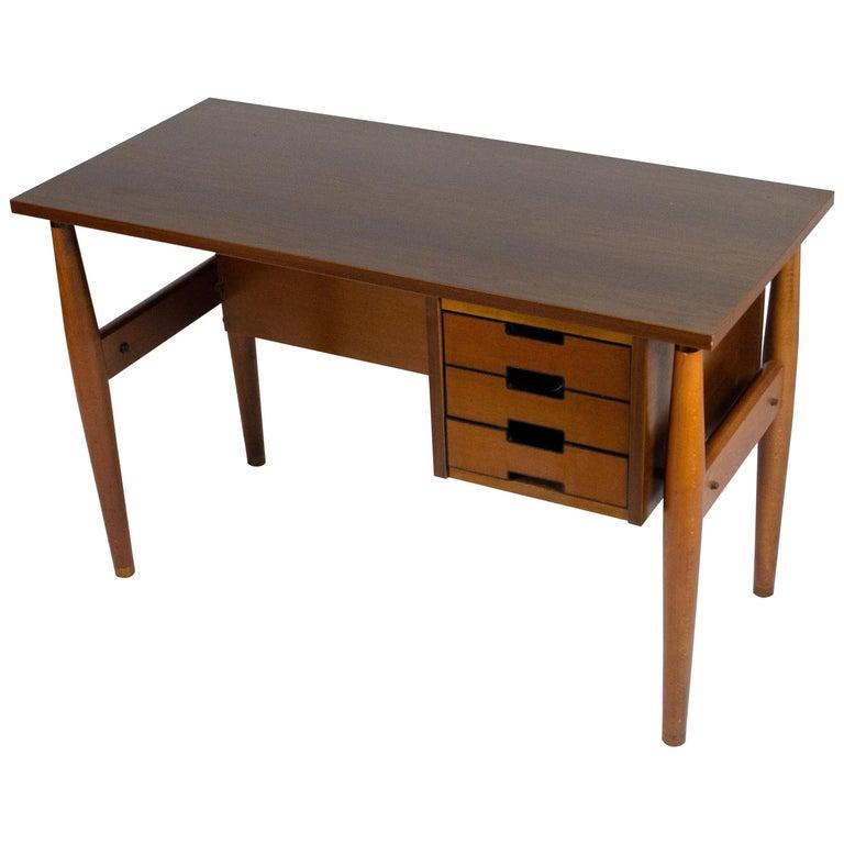 Italian Wood Small Desk with Drawers by Schirolli Mantova, 1960s