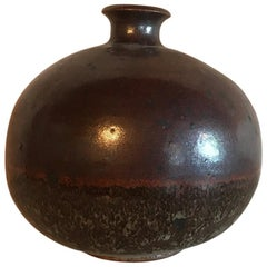 Midcentury Studio Ceramic Weed Pot Vintage Pottery Art