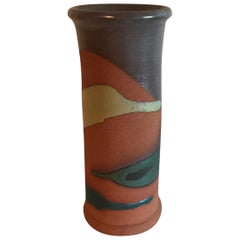 Midcentury Abstract Ceramic Vase Vintage Pottery Art