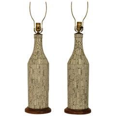 1950s Ceramic Tile Lamps