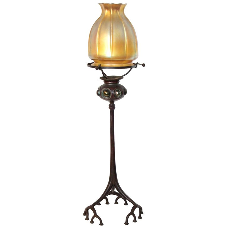 Louis Comfort Tiffany Candle Lamp