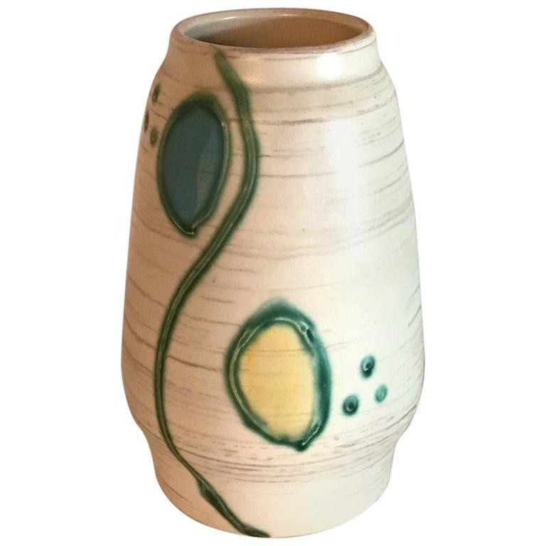 Midcentury Ceramic Pot Vase Vintage Pottery Art