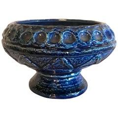 Midcentury Vintage Glazed Ceramic Bowl Pot Pottery Art