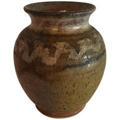 Midcentury Vintage Studio Vase Pot Ceramic Art Pottery