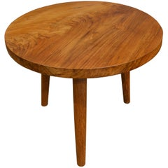Andrianna Shamaris Midcentury Style Teak Wood Side Table
