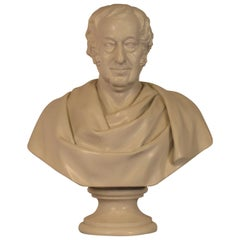 Classical Plaster Bust of Man