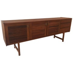 Long and Low Midcentury Teak Credenza by McIntosh