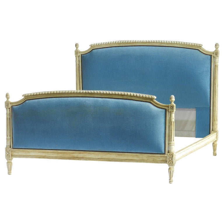 French Bed US Queen UK King Size Louis XVI Revival Early 20th Century to Recover