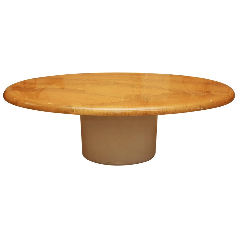 Alligator and Lacquer Oval Dining Table For Sale
