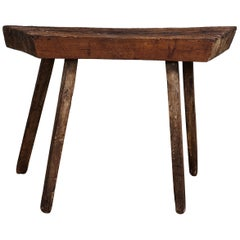 French Primitive Wooden Console Table