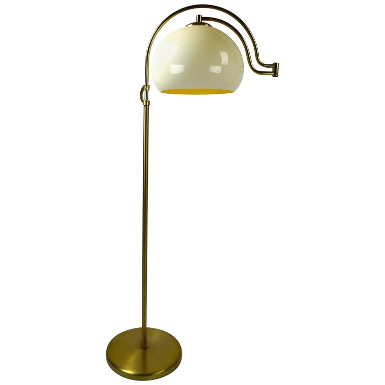 Adjustable Swing Arm Floor Lamp by Laurel For Sale