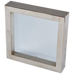 Nickel-Plated Brass Frame / Mirror by Gabriella Crespi