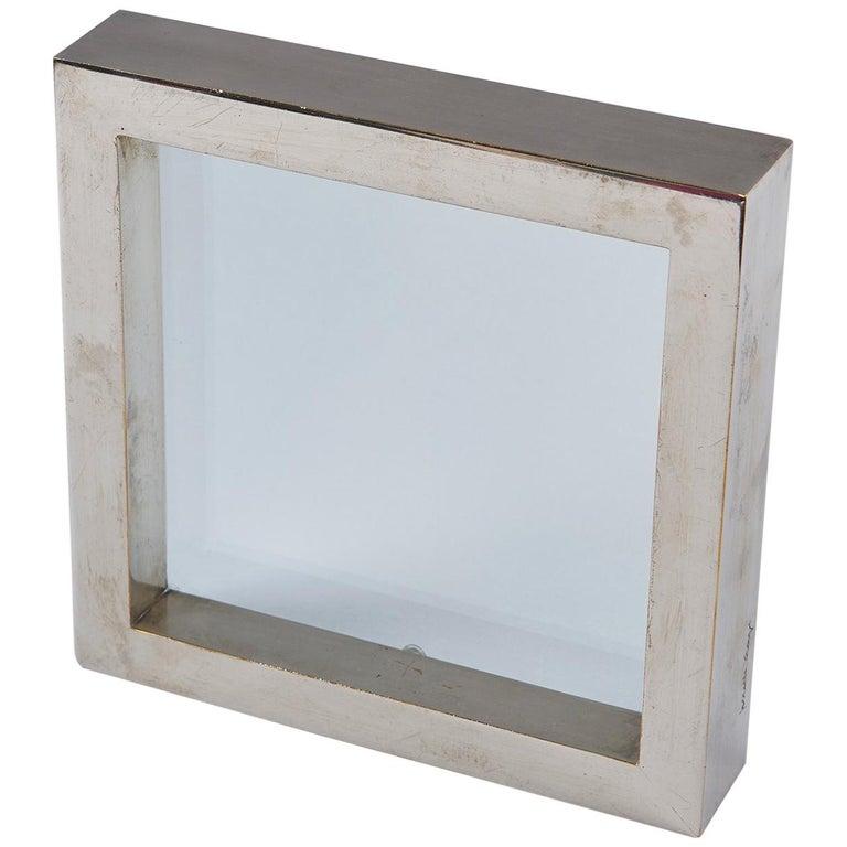 Nickel-Plated Brass Frame / Mirror by Gabriella Crespi
