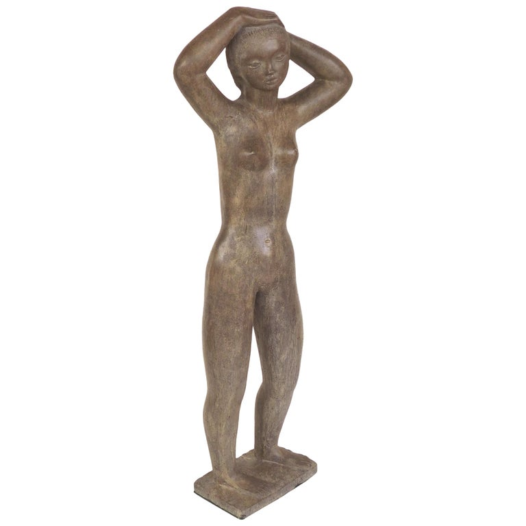Large Cast Composition Sculpture of Standing Nude, Chuck Dodson, American, 1970s For Sale