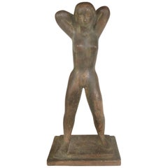 Cast Composition Sculpture of a Standing Nude by Chuck Dodson, American, 1970s