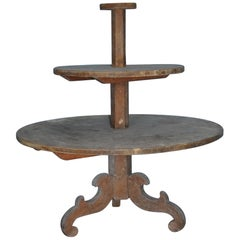 19th Century Allmoge Oversized Round Étagère or Plant Stand, Origin Sweden