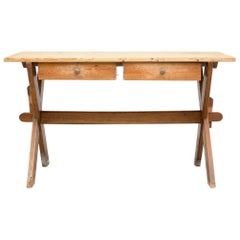 18th Century Pine Wood Swedish Rectangular Easel Side Table