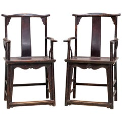 Pair of Early 20th Century Official Hat's Chair