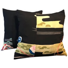 Vintage Japanese Kimono Silk Cushions