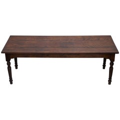 Rare Victorian Jas Shoolbred & Co. Three Plank Walnut Refectory Dining Table