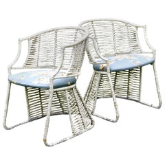 Rare pair of Pierre Chareau Style Porch Chairs