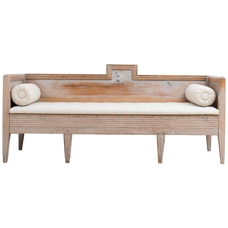 18th Century Swedish Gustavian Bench