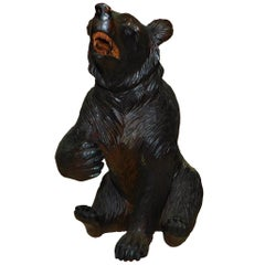 Swiss Brienz Black Forest Hand-Carved Wood Bear