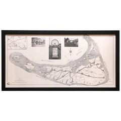 Tony Sarg Bicycle Map of Nantucket, 1930s