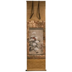Japanese Scroll of Poppies