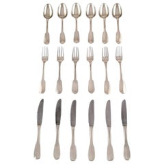 Hans Hansen Silver Cutlery Susanne in Sterling Silver, Complete Lunch Service