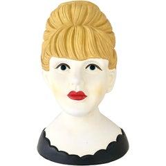"Midcentury Japanese Monumental ""Lady Head"" Vase by, Nippon"