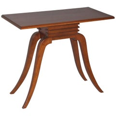 Paul Frankl Asian Inspired Mahogany Console for Brown Saltman